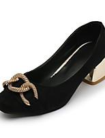 cheap -Women's Shoes PU(Polyurethane) Spring / Fall Comfort / Basic Pump Heels Chunky Heel Black / Khaki