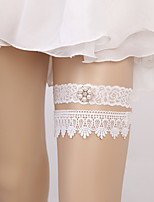 cheap -Lace European Style Wedding Wedding Garter 617 Rhinestone Faux Pearl Garters Wedding Party Evening