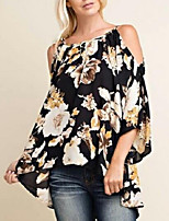 cheap -Women's Street chic Blouse-Floral