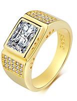 cheap -Synthetic Aquamarine / Cubic Zirconia Band Ring - Vintage, Elegant 7 / 8 / 9 Gold For Wedding / Engagement / Ceremony
