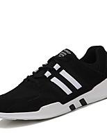 Недорогие -Муж. обувь Тюль Лето / Осень Удобная обувь / Светодиодные подошвы Кеды Беговая обувь Черный / Серый