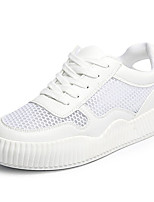 cheap -Women's Shoes Tulle Spring Comfort Sneakers Flat Heel Round Toe for White Pink