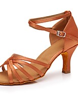 cheap -Women's Latin Customized Materials Sneaker Indoor High Heel Dark Brown Customizable