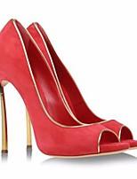 abordables -Mujer Zapatos PU microfibra sintético Primavera / Otoño Confort Tacones Tacón Stiletto Negro / Rojo / Rosa claro