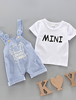 cheap -Kids Unisex Geometric Short Sleeves Clothing Set