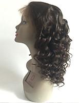 Недорогие -Не подвергавшиеся окрашиванию Парик Перуанские волосы Свободные волны Волнистый Стрижка каскад 130% плотность С детскими волосами Для