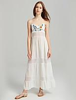 cheap -SHE IN SUN Women's Basic Boho A Line Skater Dress - Floral