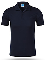 cheap -Men's Business Street chic Slim Polo - Solid Colored Shirt Collar