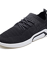 cheap -Men's Shoes Knit Spring / Fall Comfort Sneakers Black / Gray / Red