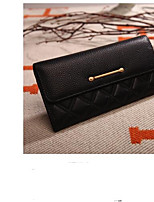 cheap -Women's Bags PU Wallet Buttons for Casual Blue / Black / Blushing Pink
