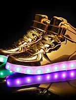 abordables -Homme / Unisexe Chaussures Polyuréthane Printemps / Automne Chaussures Lumineuses Basket Noir / Argent / Rouge
