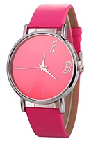 cheap -Xu™ Women's Quartz Wrist Watch Chinese Casual Watch PU Band Casual Minimalist Black White Pink Fuchsia