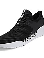 cheap -Men's Shoes Tulle Summer Comfort Sneakers for Casual White Black Gray
