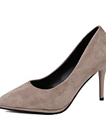 cheap -Women's Shoes Nubuck leather Spring / Fall Comfort / Basic Pump Heels Stiletto Heel Black / Beige / Dark Red