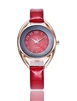 preiswerte -Damen Quartz Modeuhr Chinesisch Armbanduhren für den Alltag PU Band Freizeit Modisch Schwarz Weiß Rot Braun Rosa Marinenblau Himmelblau