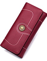 cheap -Unisex Bags Genuine Leather Wallet Zipper for Formal / Office & Career Gold / Black / Wine