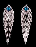 cheap -Women's Bohemian Crystal / Silver Plated Stud Earrings / Hoop Earrings - Bohemian / Fashion Silver Line Earrings For Wedding / Ceremony
