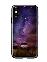 abordables -Funda Para Apple iPhone X iPhone 8 Diseños Funda Trasera Paisaje Dura Vidrio Templado para iPhone X iPhone 8 Plus iPhone 8 iPhone 7