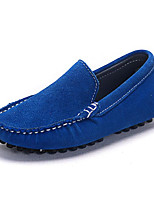 cheap -Girls' Boys' Shoes Nubuck leather Spring Fall Comfort Loafers & Slip-Ons for Casual Royal Blue