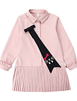 cheap -Kids Girls' Geometric Long Sleeves Dress