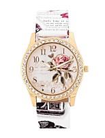 Недорогие -Жен. Кварцевый Имитационная Четырехугольник Часы Модные часы Повседневные часы Китайский Крупный циферблат Имитация Алмазный PU Группа