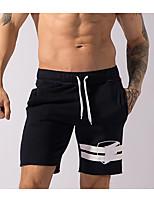 abordables -Homme Shorts à Elastique Large Cuissard  / Short Vélo / Fitness / Course / Running Mélange de Polyester & Coton Noir L / XL / XXL