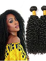 cheap -Indian Hair Curly Human Hair Weaves 50g x 3 Extention Human Hair Extensions All Christmas Gifts Christmas Wedding Party Special Occasion