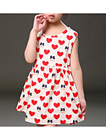 cheap -Girls' Cute Geometric Sleeveless Cotton Dress