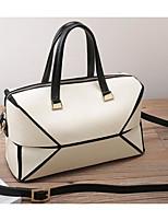 cheap -Women's Bags Fur Shoulder Bag Buttons Red / Beige / Gray