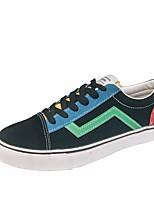 preiswerte -Herrn Schuhe Leinwand Frühling / Herbst Komfort Sneakers Schwarz / Grün / Weiß und Grün