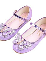 cheap -Girls' Shoes Sparkling Glitter PU Spring / Summer Flower Girl Shoes Comfort Flats for Casual Silver Purple Pink