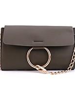 cheap -Women's Bags PU Shoulder Bag Zipper for Casual All Seasons Black Blushing Pink Dark Green