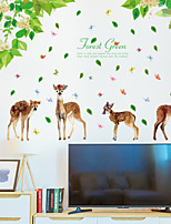 abordables -Autocollants muraux décoratifs - Autocollants muraux animaux Animaux Salle de séjour Chambre à coucher Salle de bain Cuisine Salle à