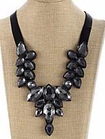 abordables -Femme Goutte Col  -  Large Doux Noir 46cm Colliers Tendance Pour Soirée Plein Air