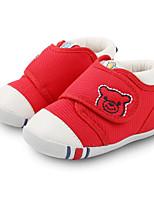 Недорогие -Девочки Мальчики обувь Ткань Весна Осень Обувь для малышей Удобная обувь Ботинки для Повседневные Красный Синий Хаки