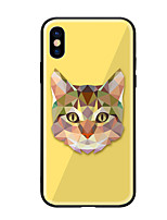 economico -Custodia Per Apple iPhone X iPhone 8 Fantasia/disegno Per retro Gatto Resistente Vetro temperato per iPhone X iPhone 8 Plus iPhone 8