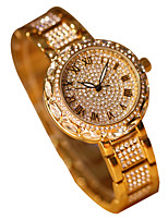 cheap -Women's Quartz Wrist Watch Japanese Chronograph / Imitation Diamond / Luminous Alloy Band Luxury / Sparkle Silver / Gold