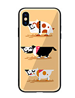 abordables -Funda Para Apple iPhone X iPhone 8 Diseños Funda Trasera Perro Dura Vidrio Templado para iPhone X iPhone 8 Plus iPhone 8 iPhone 7 iPhone