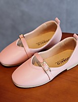 cheap -Girls' Shoes PU Spring / Summer Comfort Flats for Casual White Pink Khaki