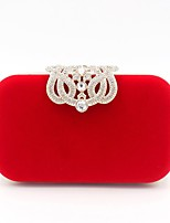 cheap -Women's Bags Polyester Evening Bag Crystals for Wedding / Event / Party Black / Red / Purple