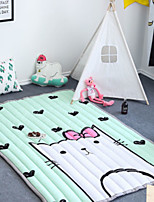 cheap -creative cartoon poly/cotton, superior quality rectangular anime rug