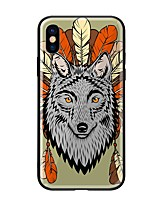 cheap -Case For Apple iPhone X iPhone 8 Pattern Back Cover Animal Hard Tempered Glass for iPhone X iPhone 8 Plus iPhone 8 iPhone 7 iPhone 6s