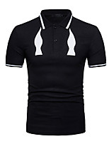 cheap -Men's Active Basic Polo - Solid Colored Color Block
