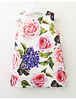 cheap -Girls' Cute Going out Floral Sleeveless Cotton Dress
