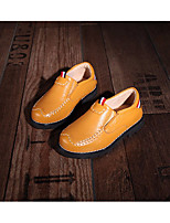 abordables -Fille Garçon Chaussures Cuir Printemps Automne Confort Mocassins et Chaussons+D6148 pour Enfant Décontracté Blanc Noir Jaune
