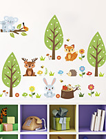 cheap -Wall Decal Decorative Wall Stickers - Plane Wall Stickers Landscape Animals Re-Positionable Removable