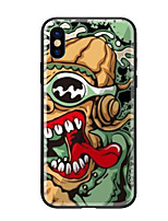 economico -Custodia Per Apple iPhone X iPhone 8 Fantasia/disegno Per retro Cartoni animati Resistente Vetro temperato per iPhone X iPhone 8 Plus
