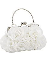 cheap -Women's Bags Satin Evening Bag Flower for Event / Party Silver / Red / Almond