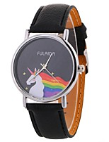 cheap -Women's Quartz Fashion Watch Chinese Large Dial PU Band Casual Minimalist Black White Blue Red Brown Green Pink Beige Rose
