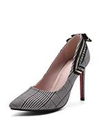 abordables -Femme Chaussures Tissu Printemps / Automne Confort Chaussures à Talons Talon Aiguille Bout pointu Noir / Rouge / Soirée & Evénement